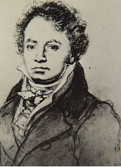 Beethoven portrait by Louis Letronne in 1814